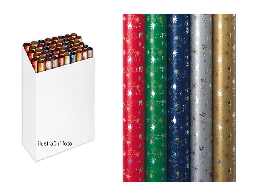 Baliaci papier vianočný rolky Holography Snow Crystal 150x70