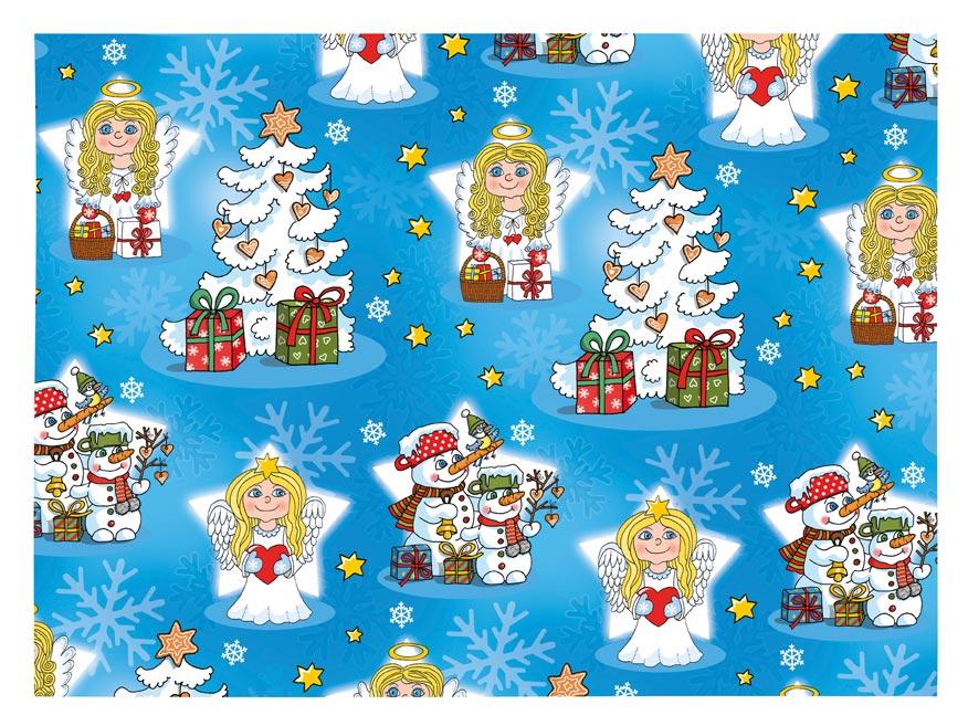 baliaci papier vianočný klasik V205 100x70 5811405