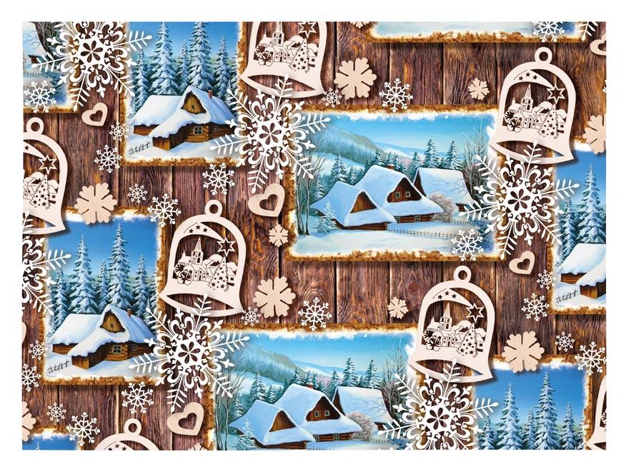 baliaci papier vianočný klasik V206 100x70 5811406