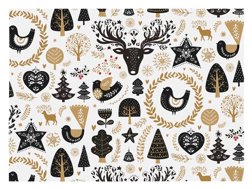 baliaci papier vianočný klasik V207 100x70 5811407