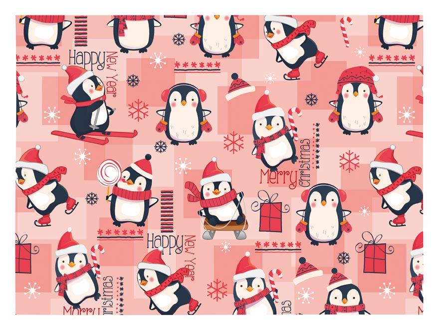 baliaci papier vianočný klasik V208 100x70 5811408