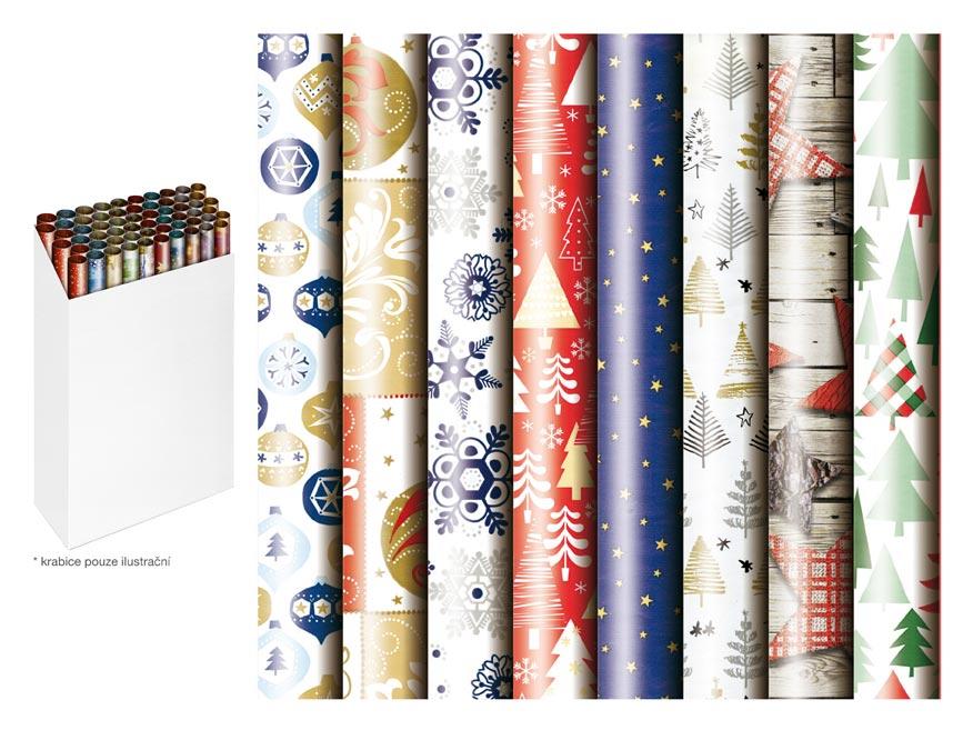 Baliaci papier vianočný rolky 200x70 mix 2