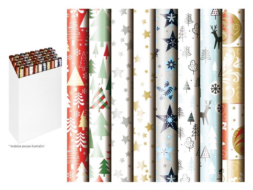 Baliaci papier vianočný rolky 500x70 mix 2