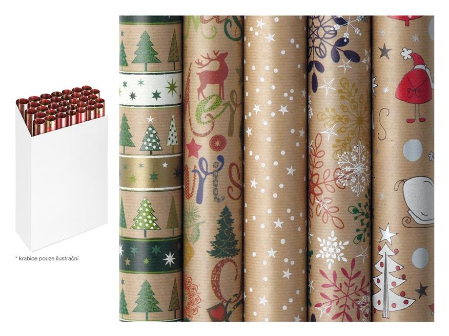 Baliaci papier vianočný rolky Nature Spirit 200x70