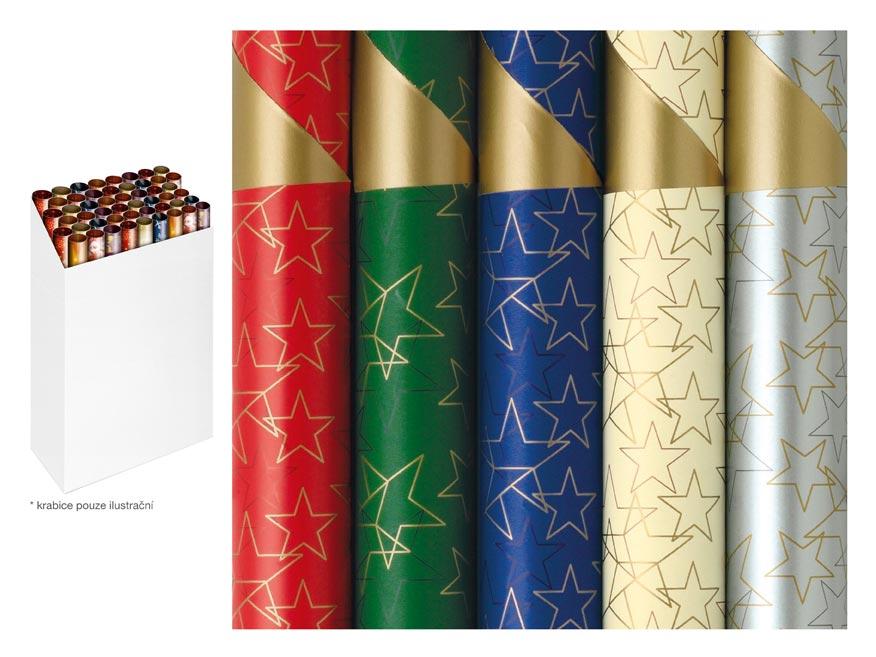 Baliaci papier vianočný rolky Stardust 200x70