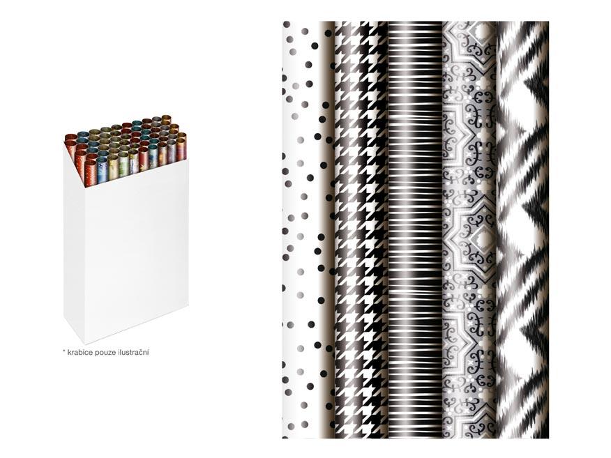 baliací papier roľa 200x70 black and white mix 5811458