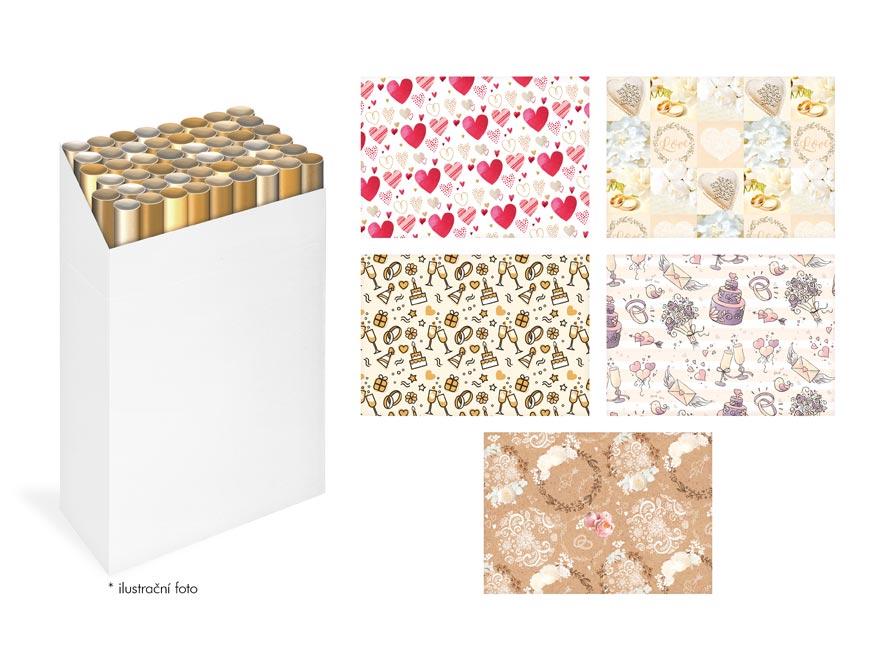 baliaci papier rolky 2x100x70 LUX MIX SVADOBNÝ 5811464
