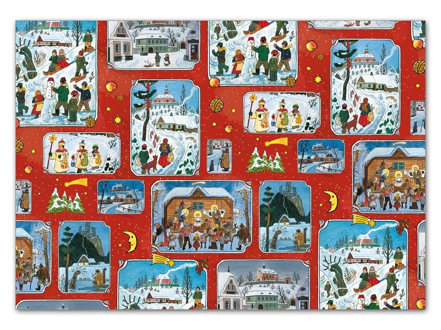 Baliaci papier vianočný klasik Lada 4 100x70