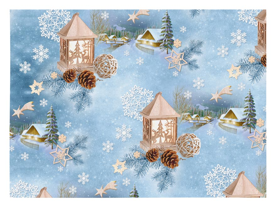 baliaci papier vianočný klasik V219 100x70 5811467