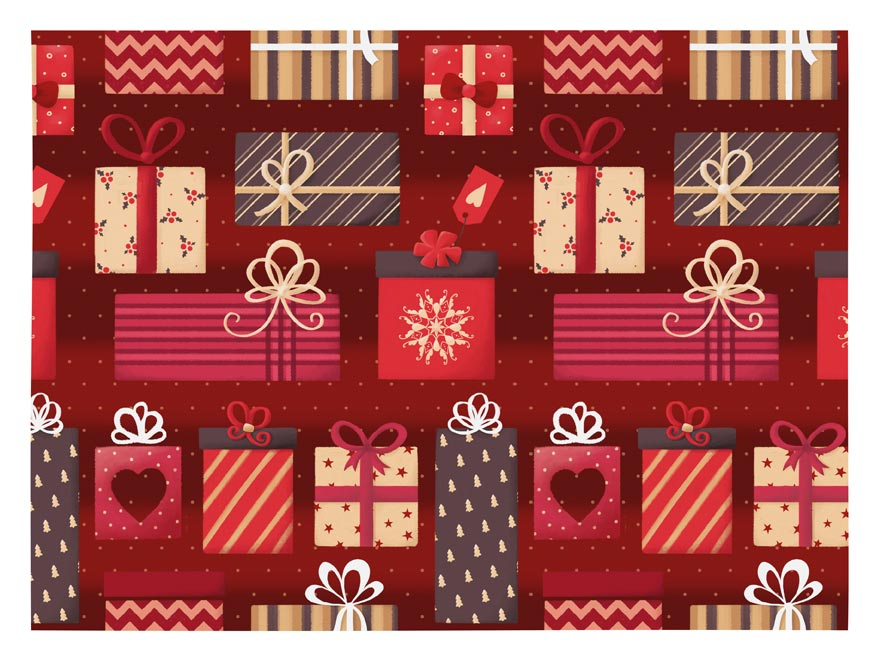 baliaci papier vianočný klasik V221 100x70 5811469