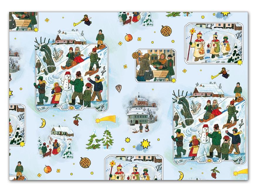 baliaci papier vianočný klasik Lada 5 100x70 5811485