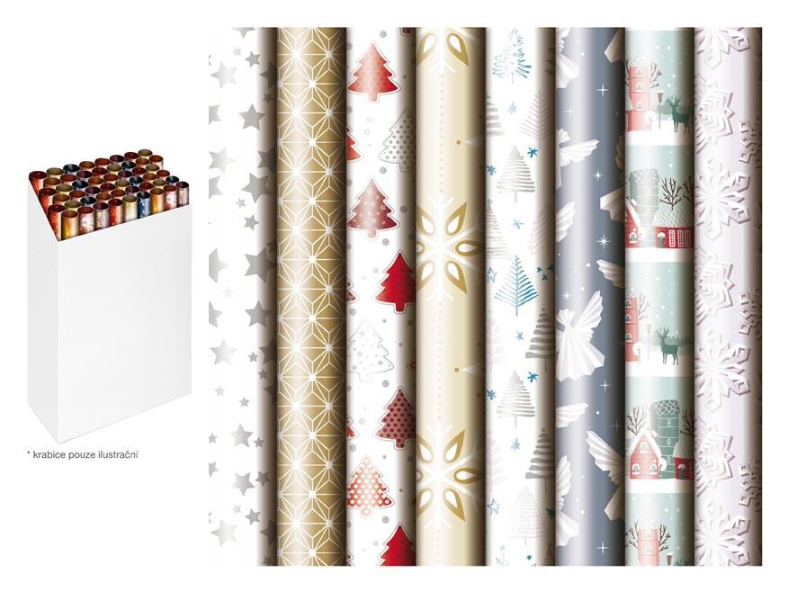 baliaci papier vianočný rolky  1000x70 mix č.3 5811488