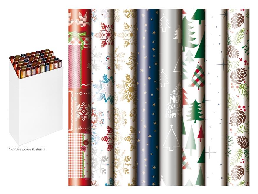 baliaci papier vianočný rolky  1000x70 mix č.4 5811489