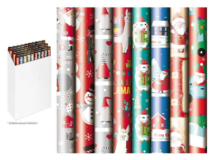 baliaci papier vianočný rolky  200x70 detský mix 2 5811490