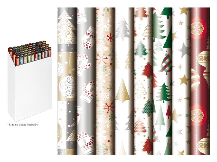 baliaci papier vianočný rolky  200x70 mix 3 5811491