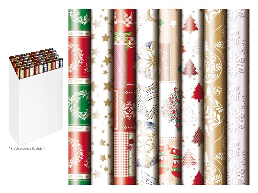 baliaci papier vianočný rolky  500x70 mix č.3 5811492