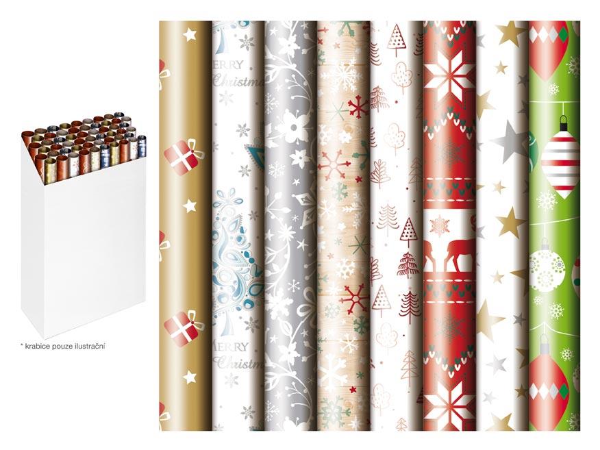 baliaci papier vianočný rolky  500x70 mix č.4 5811493