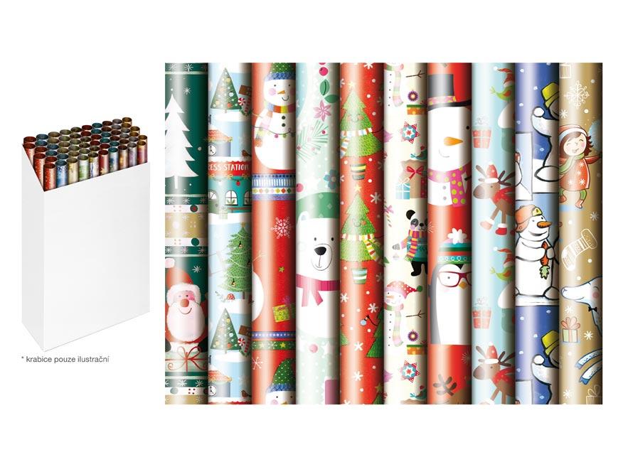 baliaci papier vianočný rolky  200x70 detský mix 3 PrasBamb 5811494