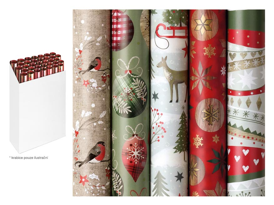 baliaci papier vianočný rolky  Winter Woodland 200x70 5811495
