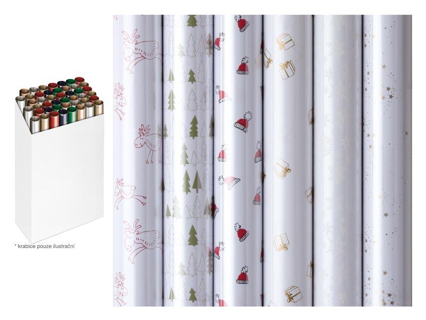 baliaci papier vianočný rolky  Prisma 250x70 fólie 25 mikronů 5811496