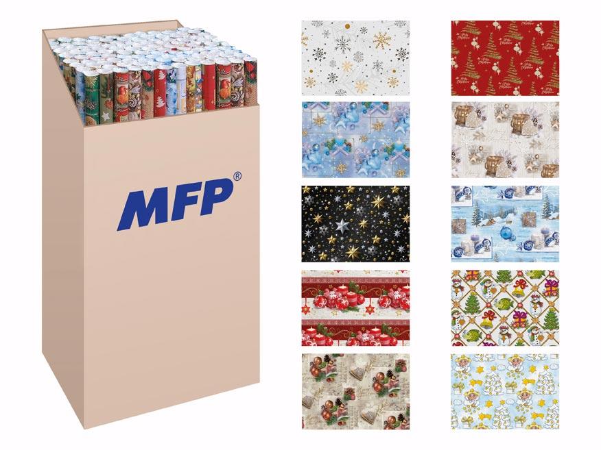 baliaci papier vianočný rolky LUX 5x100x70 MIX 5811511