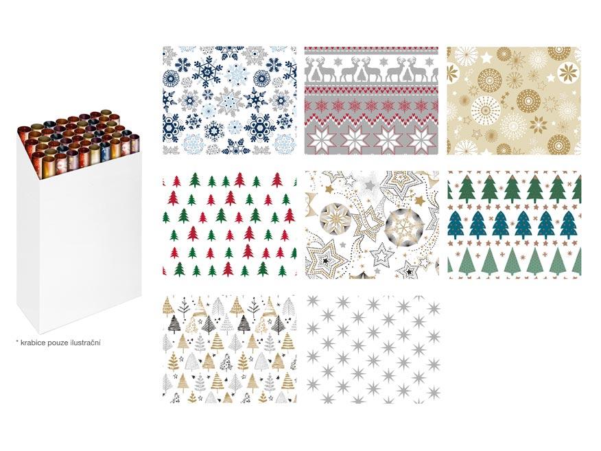 baliaci papier vianočný rolky 200x70 mix č.4 5811561