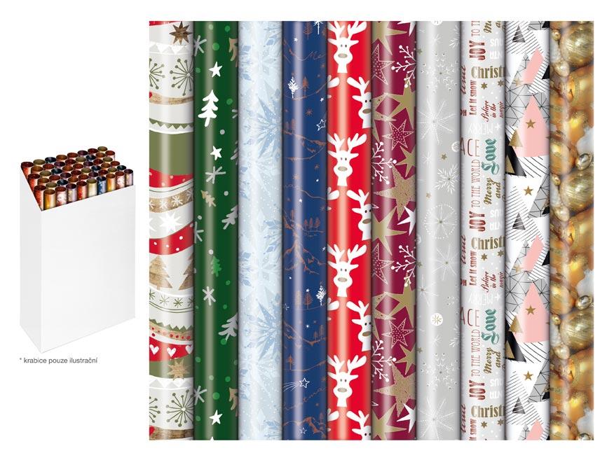 baliaci papier vianočný rolky 200x70 mix č.5 Pras 5811562