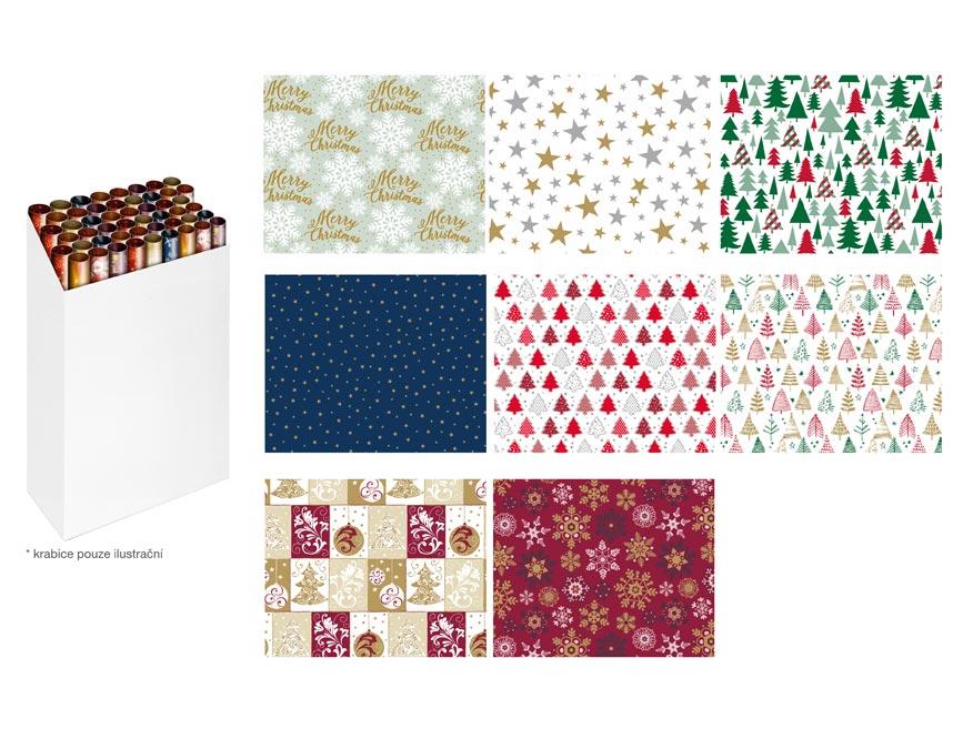 baliaci papier vianočný rolky 500x70 mix č.5 5811563