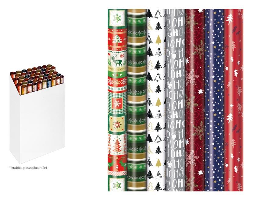 baliaci papier vianočný rolky 500x70 mix č.6 Pras 5811564