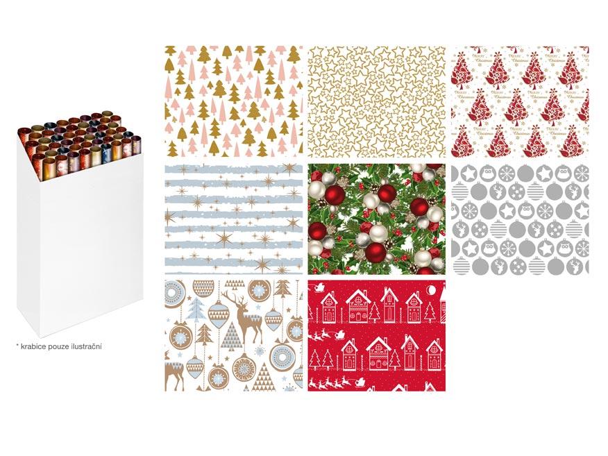 baliaci papier vianočný rolky 1000x70 mix č.5 5811565
