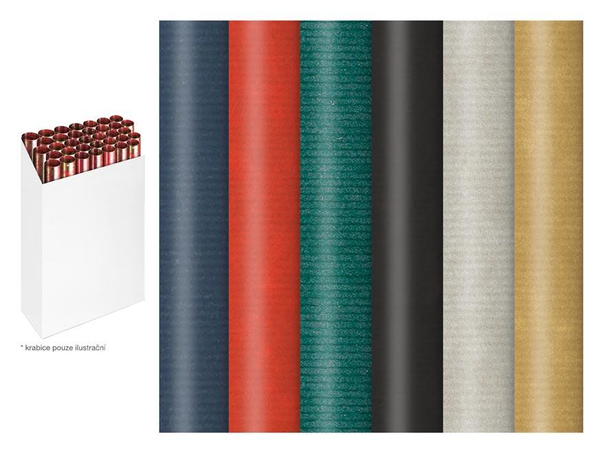 baliaci papier vianočný rolky 200x70 kraft jednofarebný mix 5811569