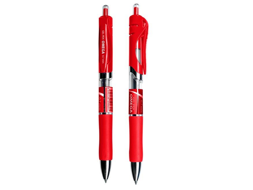 Pero gelové 0,7 click OMEGA červená