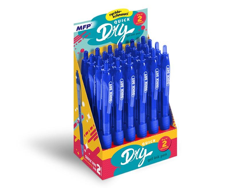 Pero gelové kus QUICK DRY - blue, modrá