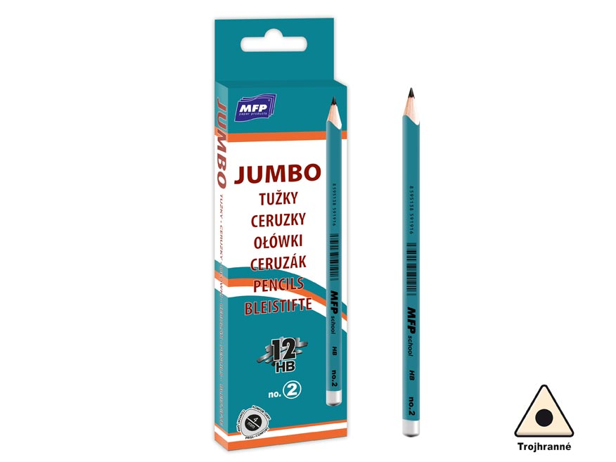 Ceruzka M č.2 JUMBO triangular