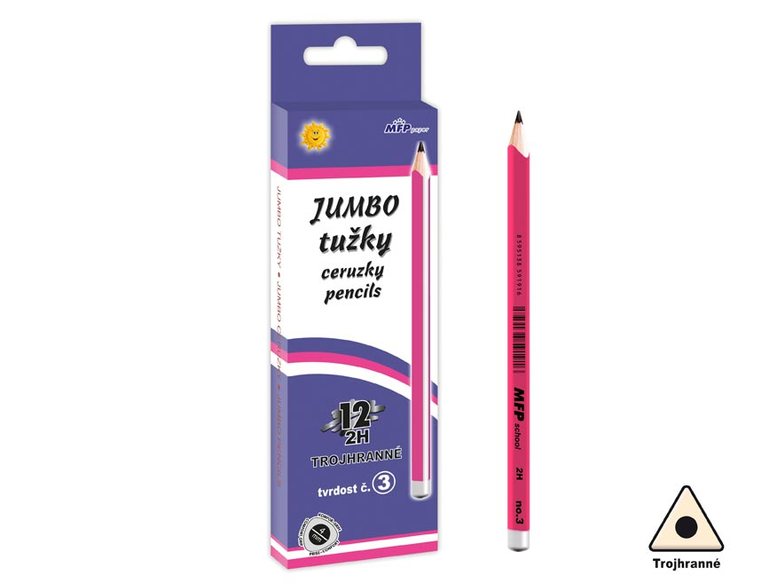 Ceruzka M č.3 JUMBO triangular