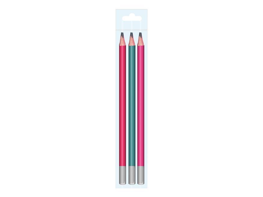 Ceruzka M set 3 JUMBO triangular 1xč.1+1xč.2+1xč.3
