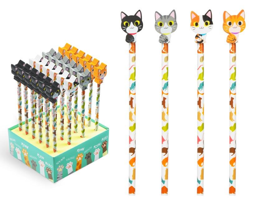 ceruzka s gumou - mačka 6200344