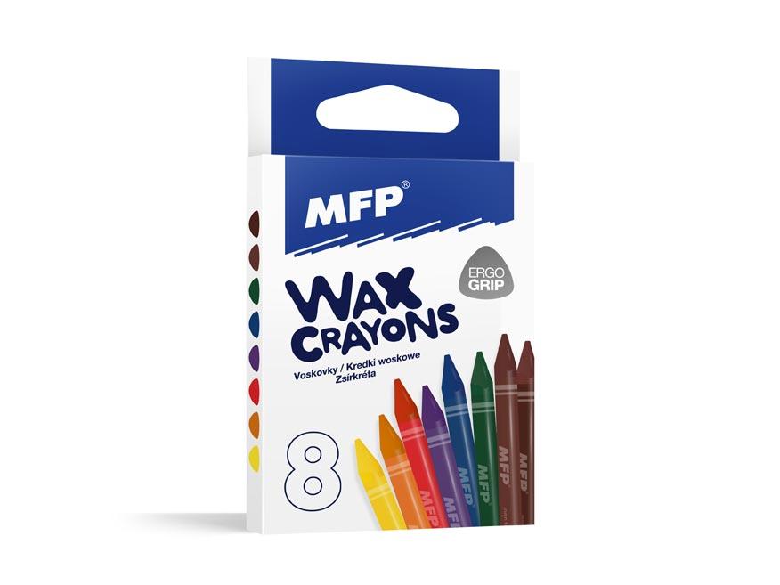 Voskovky MFP  8 farieb - trojhranné