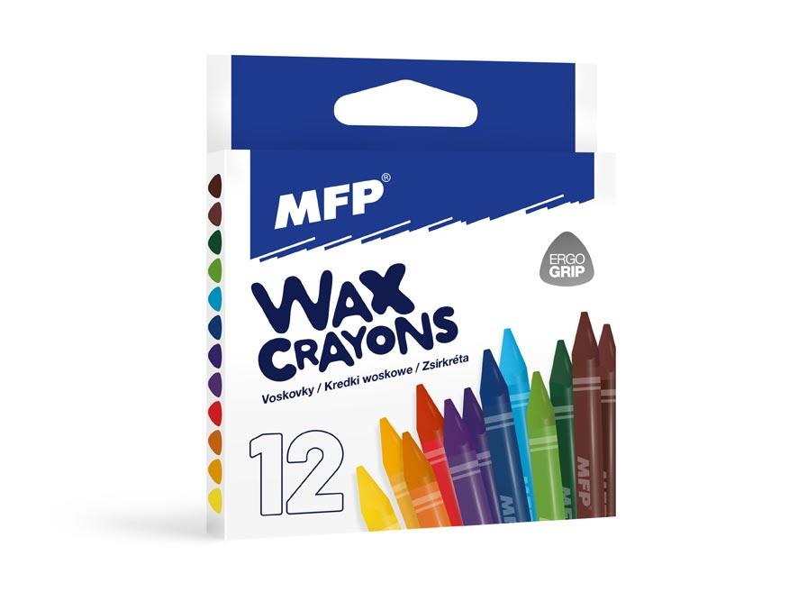 Voskovky MFP 12 farieb - trojhranné