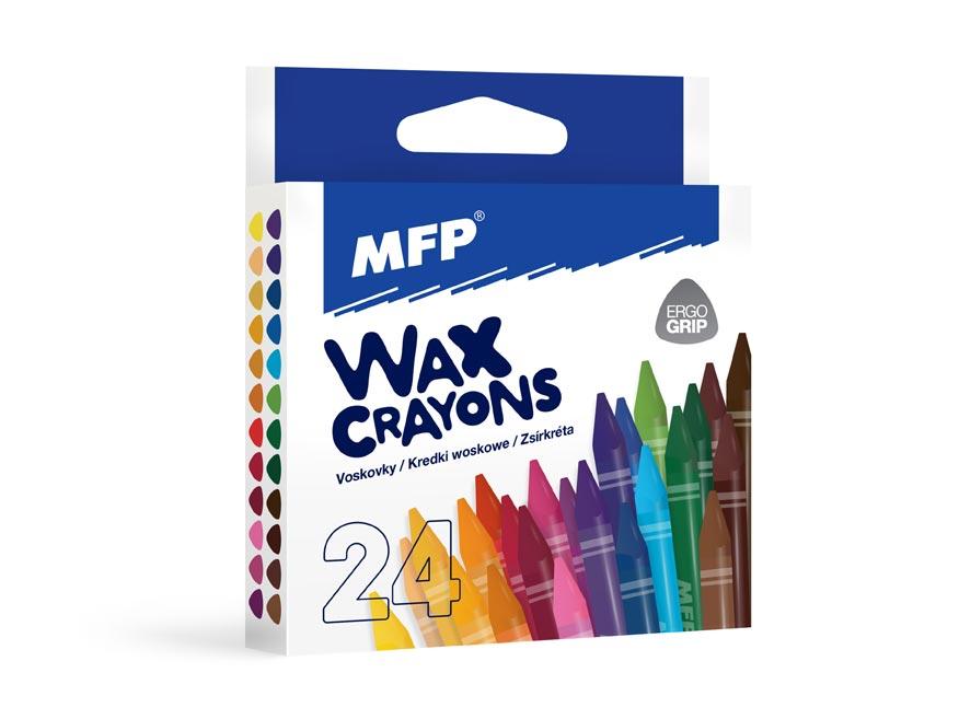 Voskovky MFP 24 farieb - trojhranné