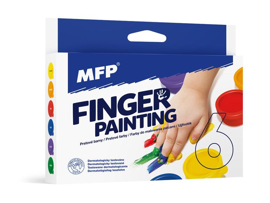 farby prstové 6 farieb 30ml 6300360