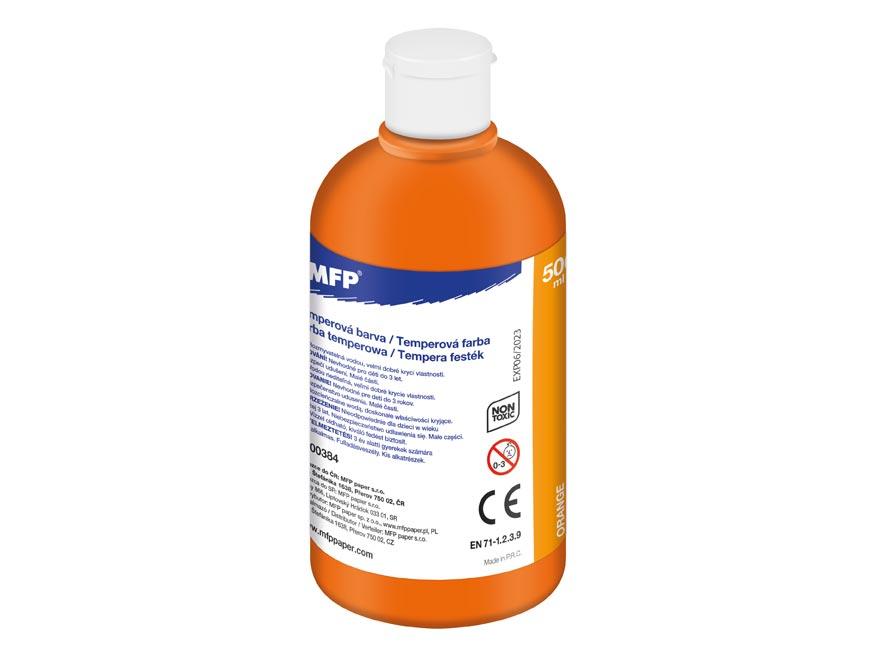 farba temperová 500ml oranžová 6300384