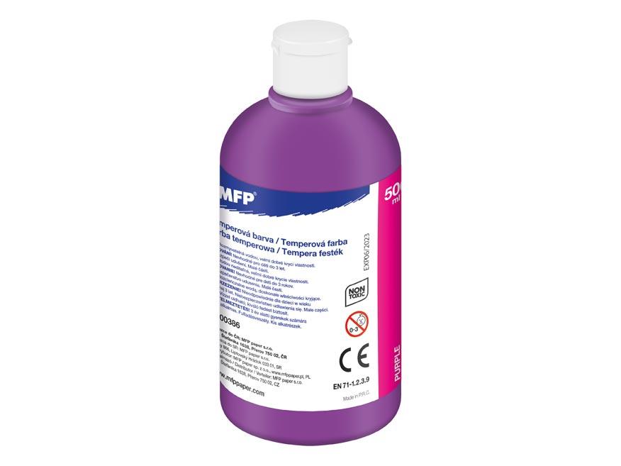 Farba temperová 500ml purpurová