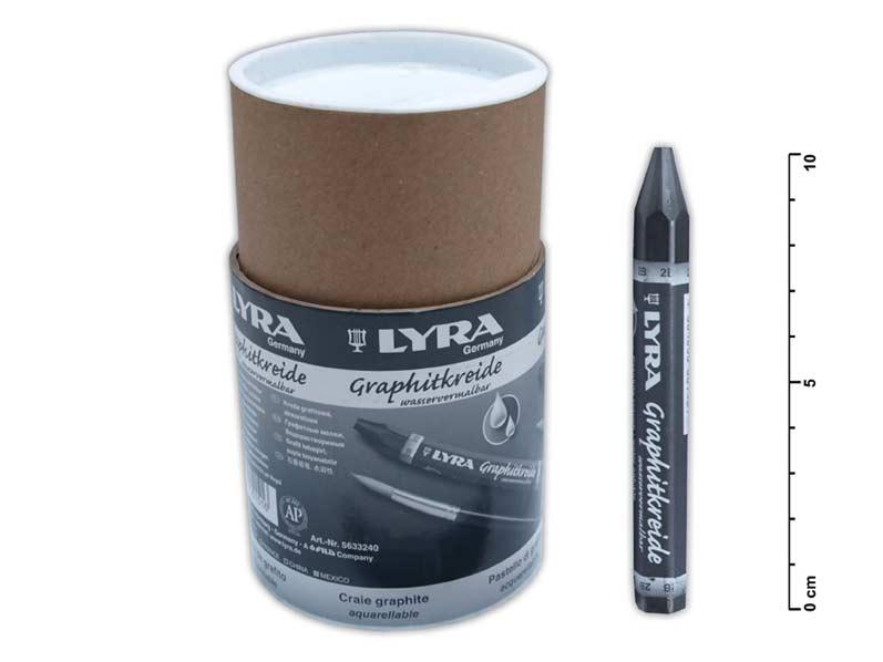Kriedy grafitová  rozmývateľná 12mm 24ks