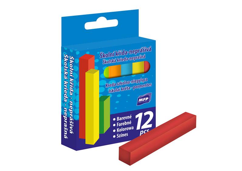 Kriedy M faredná štvorcová 12ks v krabičke neprašné