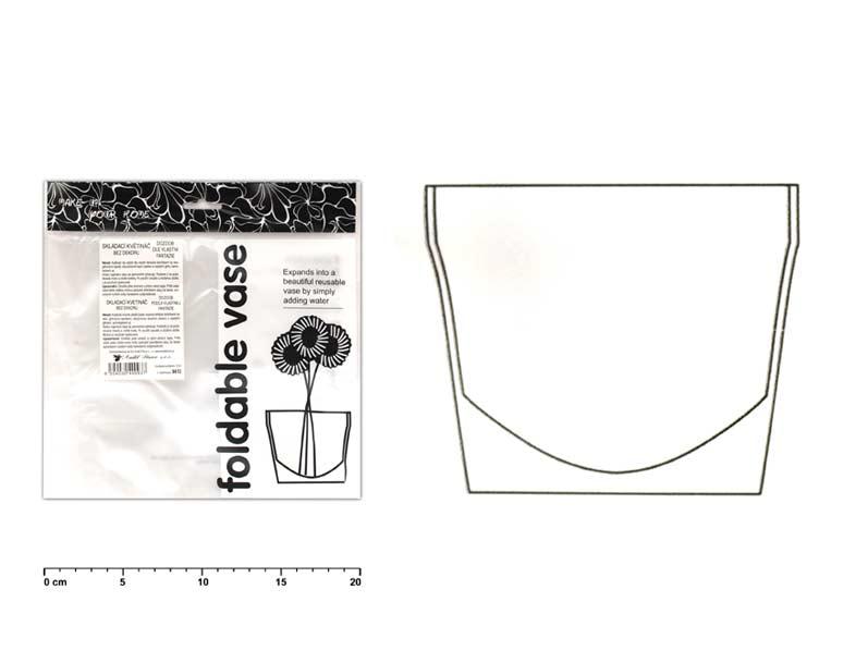 Kvetináč 9410 bez dekoru plastový skladací 22x18cm