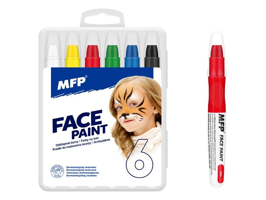 Farba na tvár MFP 6ks set