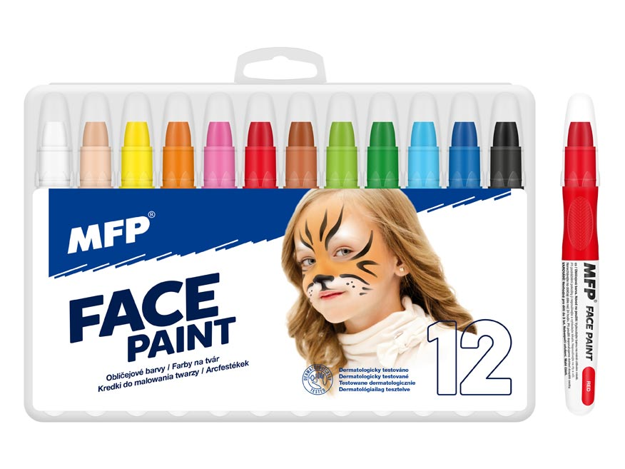 Farba na tvár MFP 12ks set