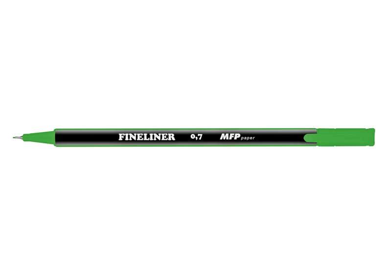 Popisovač FL 0,7mm zelený trojhranný