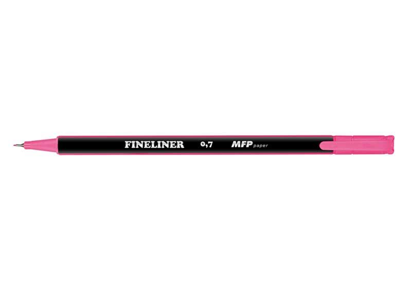Popisovač FL 0,7mm ružový trojhranný